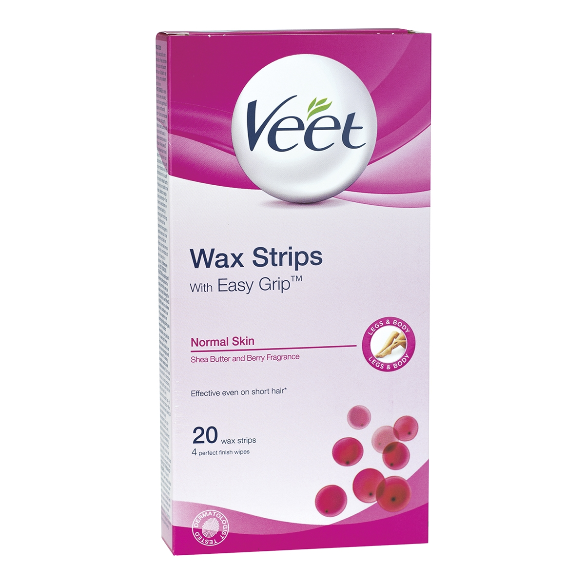 Veet Hair Removal Ready To Use Wax Strips 20 S For Normal Skin